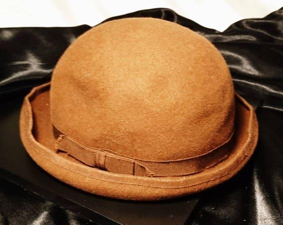 1940's felt bowler / cloche hat, changeable hat, ladies vintage hats