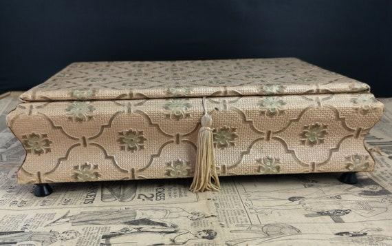 Vintage French chocolate box, Art Deco, jewellery box