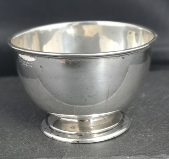 Antique sterling silver presentation bowl, Victorian, Deakin