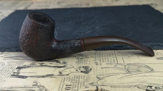 Vintage English Briar wood pipe, tobacco pipe, estate smoking pipe