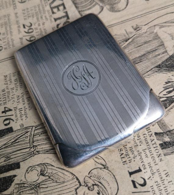 Vintage sterling silver match safe, vesta, 1920's
