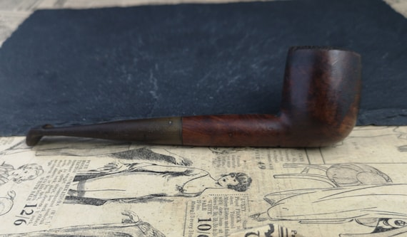 Vintage English straight pipe, tobacco pipe, estate smoking pipe