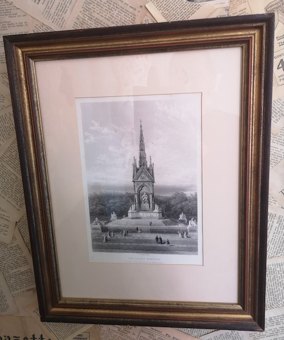 Antique Engraving, The Albert Memorial, J C Armytage, fine art