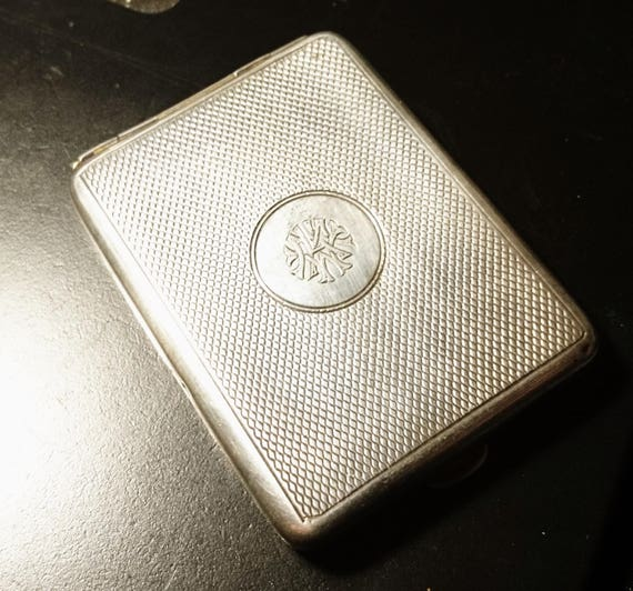 Vintage 20's sterling silver match case, art deco silver vesta, gilt lined, fully hallmarked