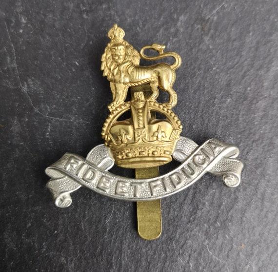 Vintage WW2 cap badge, RAPC, British Military