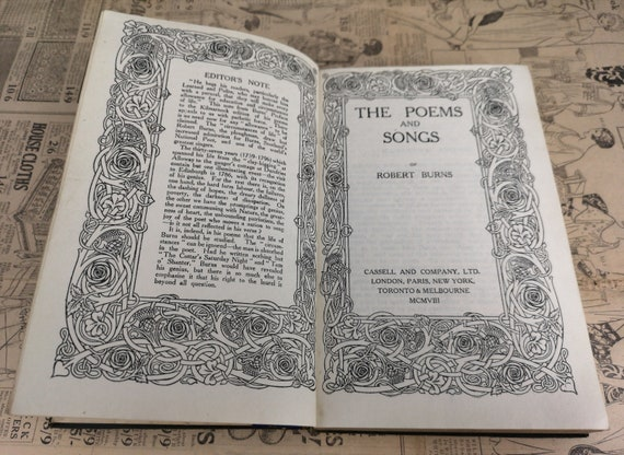 The poems and songs of Robert Burns, antique poetry
