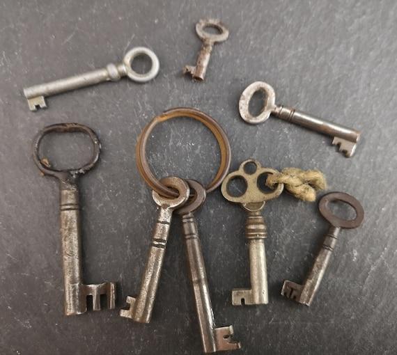 Vintage and antique keys, cabinet keys