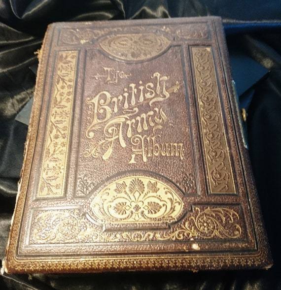 Victorian musical photograph album, The British Army Album, working with photographs