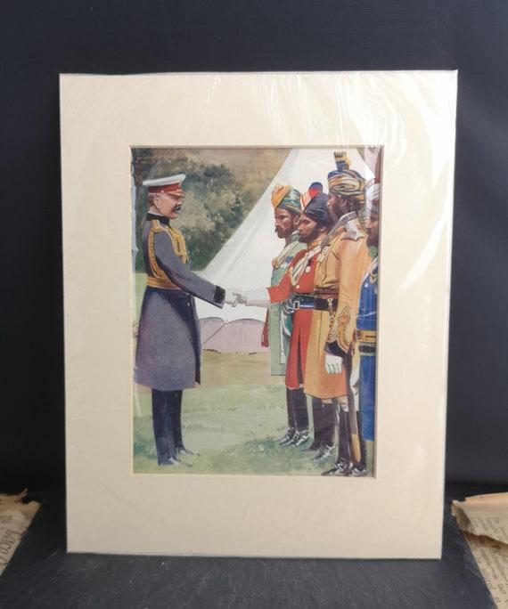 Vintage WW1 print, Lord Kitchener, military art