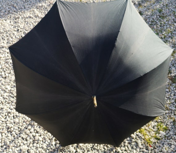 Antique walking umbrella, gents walking cane umbrella