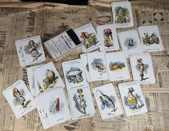 Antique Alice in Wonderland card game, De La Rue