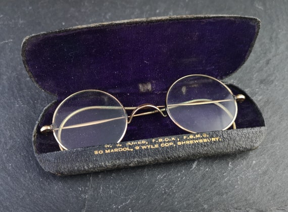Antique 18ct gold spectacles, Russian, late 19th century