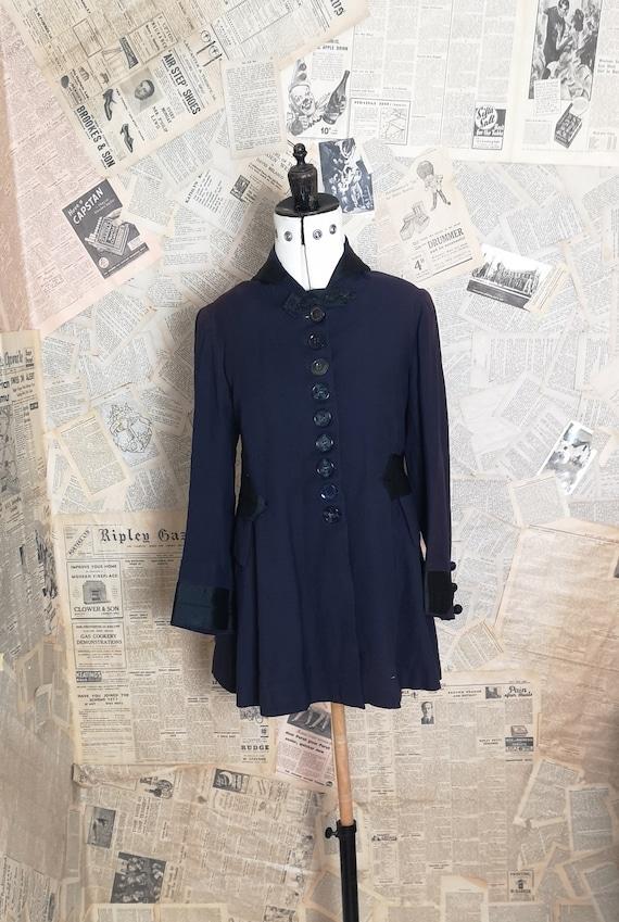 Antique Edwardian frock coat, antique ladies jacket