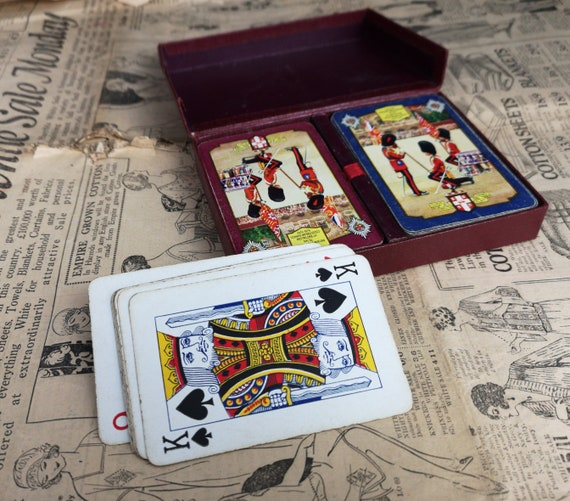Vintage 50's Worshipful Company of Makers of Playing Cards, Double Deck