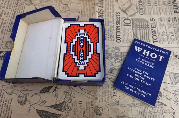 Vintage 30's Whot card game, Waddingtons