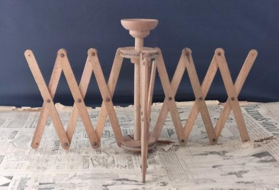 Vintage wooden skein holder, wool winder, silk winder