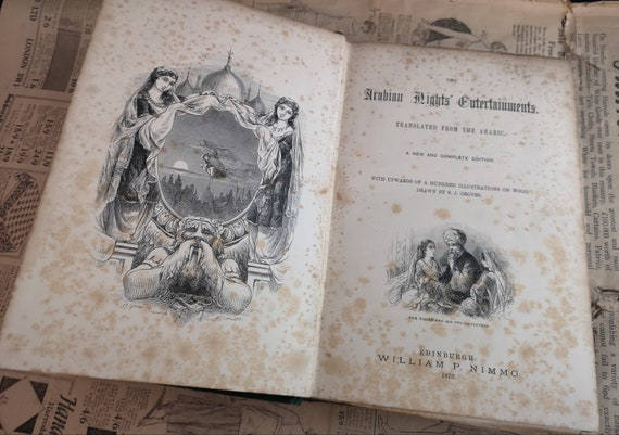 An Arabian Nights Entertainment, William P Nimmo, Victorian book