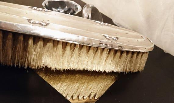 Antique silver clothes brush, hallmarked silver, silver backed clothes brush, vintage clothes brush