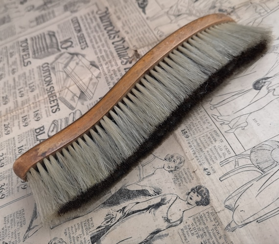 Antique barbers brush, neck brush, clothes brush, barbershop antiques, late Victorian