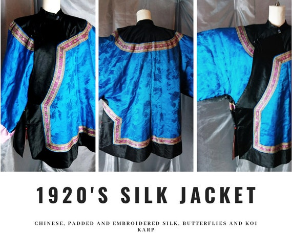 Vintage Chinese padded silk jacket, 1920's