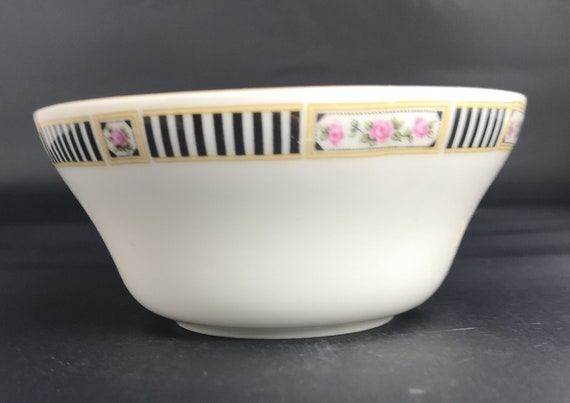 Vintage Czech porcelain bowl, Victoria China, 1930's sugar bowl
