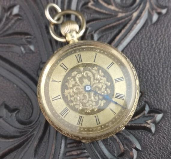 Antique 18ct gold pocket watch, fob watch