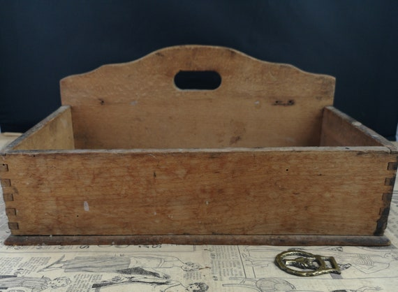 Rustic antique French wall hanging box, 19th century
