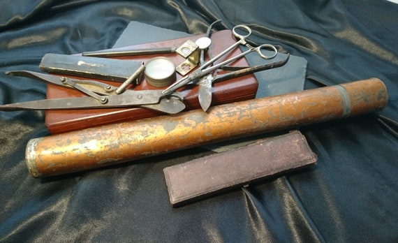Antique surgeons tools, cased, Victorian surgical, medical tools, with certificates