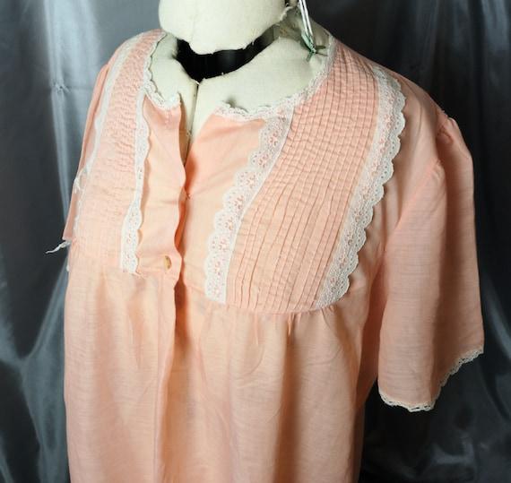 Vintage 1930's nightdress, sheer peach, super soft, vintage slip