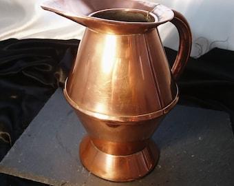 Antique copper haystack measure, Georgian ale jug