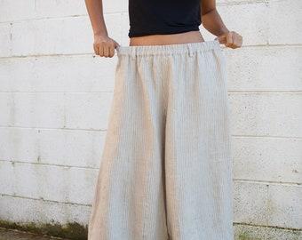 8f9edb6ec0 L.5 Linen Resort pants -Linen pants-Drop crotch linen-Green linen-Wide leg  pants Cocktail pants - Beach pants- Low crotch pants - Streetwear