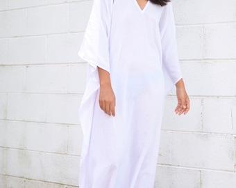3d14293187a53 O. COTTON GAUZE kaftan, White Caftan,Kaftan see through,Long Beach dress, Beach party dress,Pool party dress, Sheer dresses, See though dress