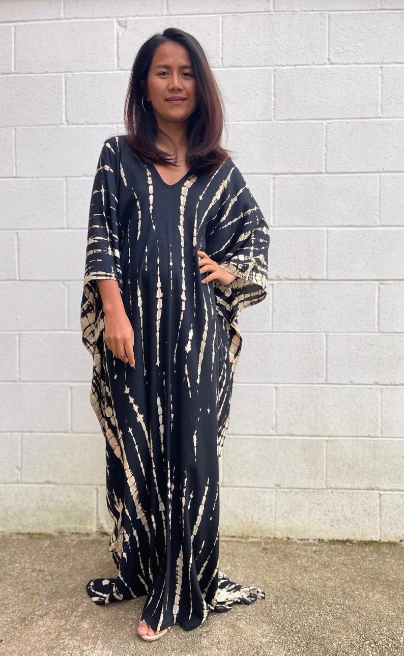 Kaftan dress,Swimsuit cover up gift Multi colors tie dyed kaftan,One size dress Resort wear,Beach wear Tie dye dress Pool party dress