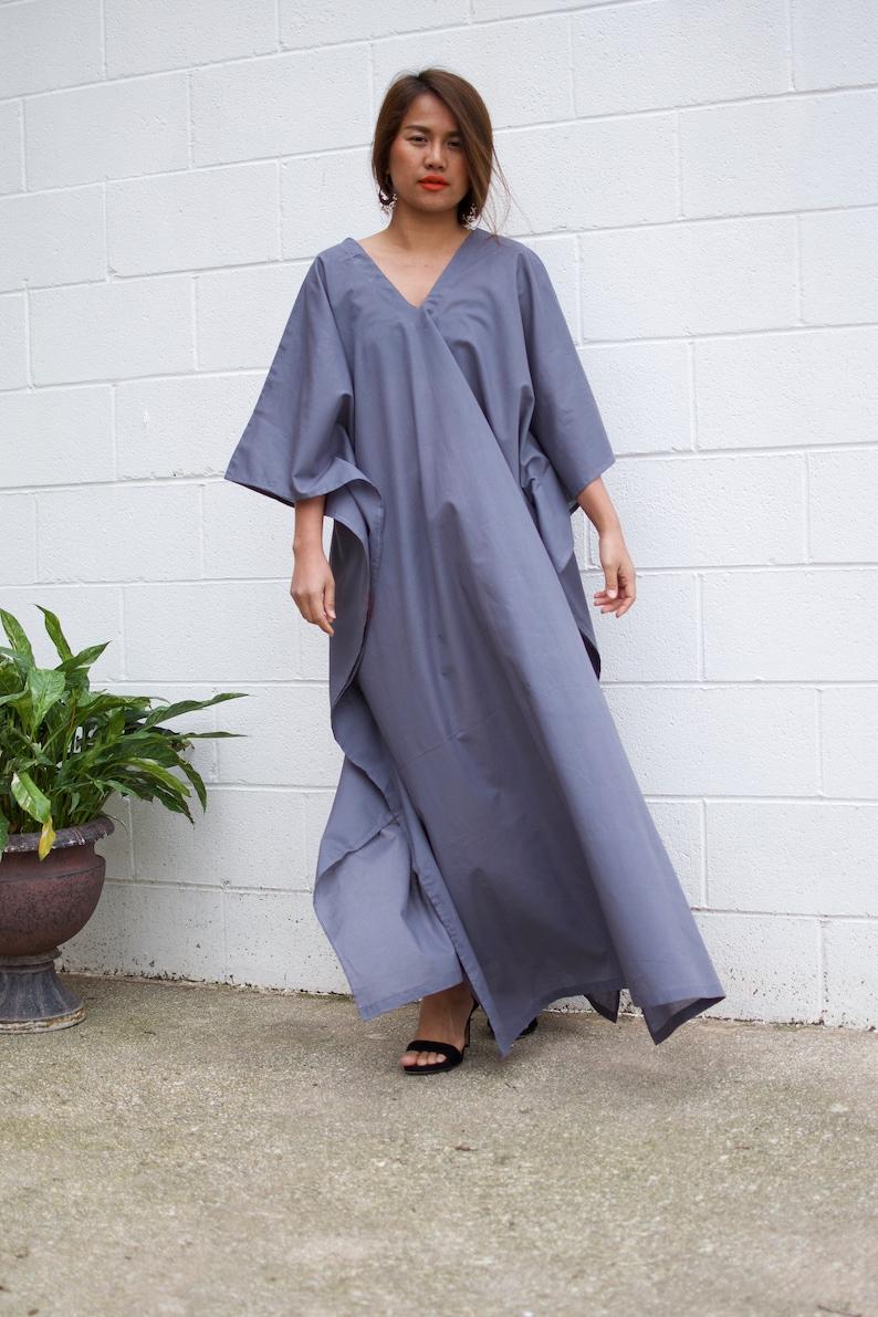 Boho clothing Grey dress Grown dress,Indian fabric kaftan Summer kaftan COTTON KAFTAN Beautiful dress,Caftan,Lounge wear E