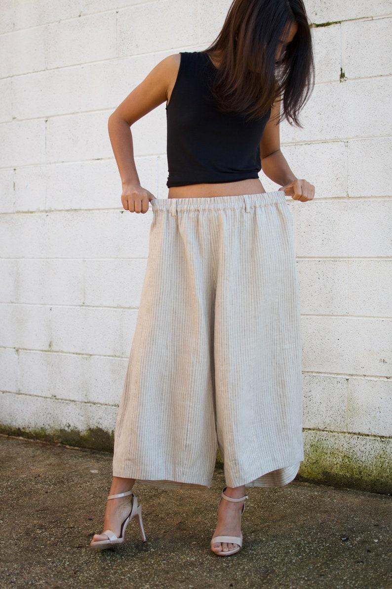 c4e6aaf3e1 L.5 Linen Resort pants Linen pants-Drop crotch linen-Green | Etsy