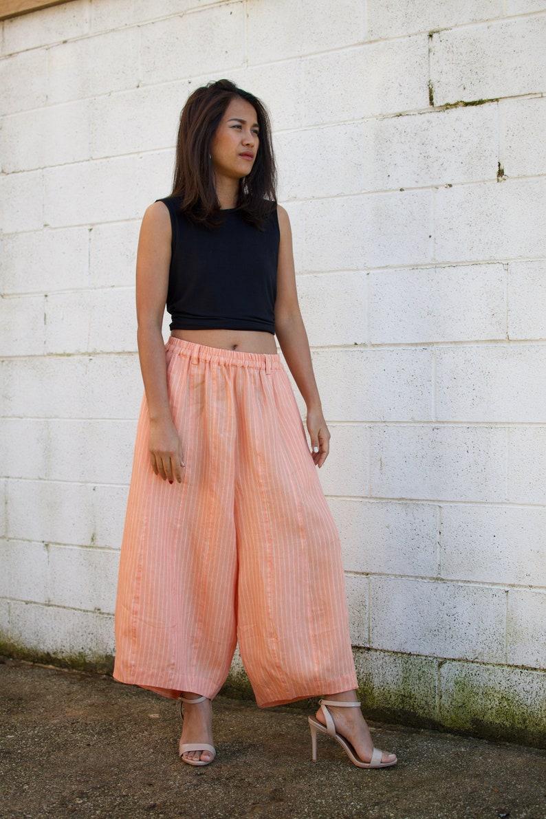 b2b2590756 L.5 Linen Resort pants Linen pants Drop crotch linen Wide | Etsy