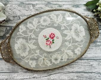 Embroidered Ukrainian Vanity Tray or Wall Art