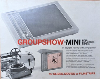Groupshow Mini Rear Projection Screen/ Small Audience Viewer/ c. 1960's Photographic Equipment/ Imaging