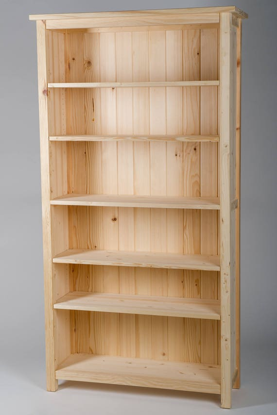 UNFINISHED PINE BOOKCASE