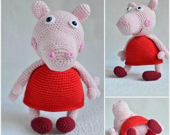 Peppa Pig Knit Etsy