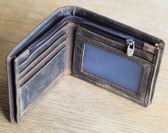 Leather Wallet, Mens Leather Wallet, Distressed Wallet, Boyfriend Gift, Husband Gift, Genuine Leather Wallet, Gift for Him, Wallet, Gift
