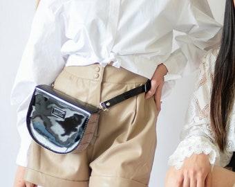 Reptile Snake Print Fanny Pack Vintage Waist Bag Belt Bag Hip Bag Bum Bag Punk Clothing 80s Clothing Aesthetic Kawaii Clothing Rave Wear