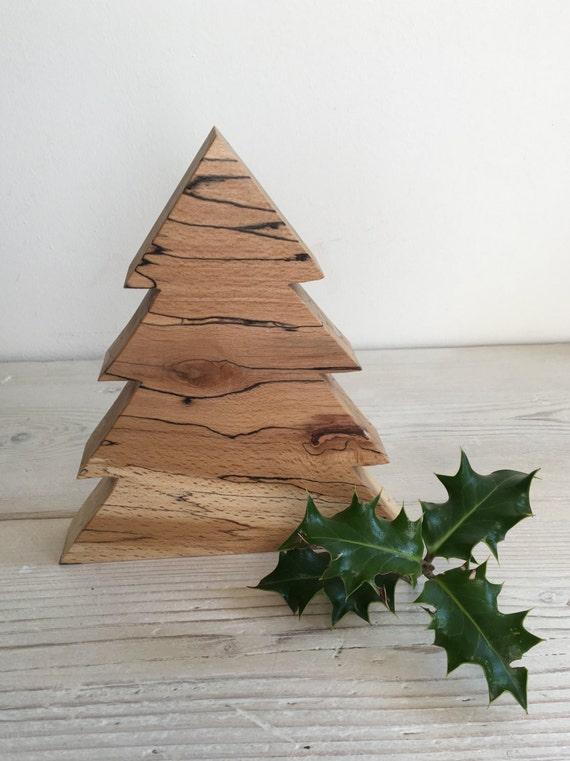 Sapin de Noël, décoration de Noël en bois, ramifiés en forme de ...