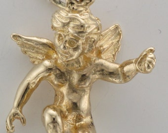 Vintage 9ct gold Cupid charm or pendant
