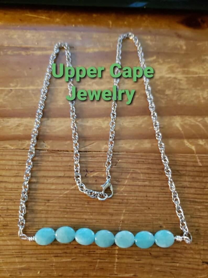 Amazonite bar necklace