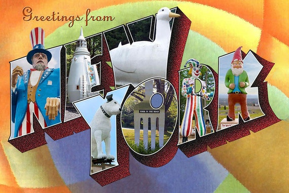 Greetings from new york postcard etsy image 0 m4hsunfo
