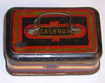 Miniature Sweet Cachou tin in the form of a cash tin
