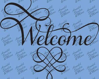Wall Art Decal Welcome vinyl wall word
