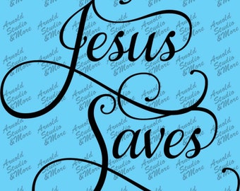 Wall Art Decal Jesus Saves vinyl wall words