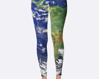 Unique Leggings // Workout Leggings // Printed Leggings // Gym Leggings // Yoga Leggings // Yoga Pants // March for Science // Earth Day